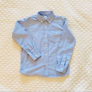EUC, GAP boys uniform oxford long sleeve shirt